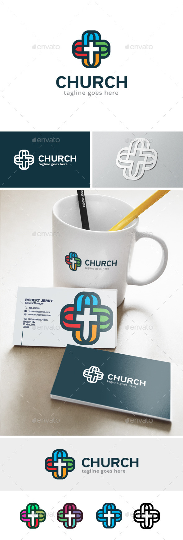 GraphicRiver Church Logo 11923818