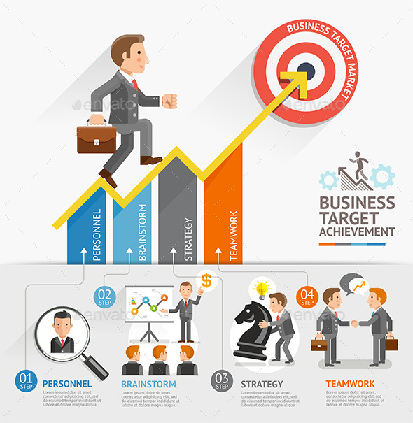 GraphicRiver Business Growth Arrow Strategies Concept 11923899