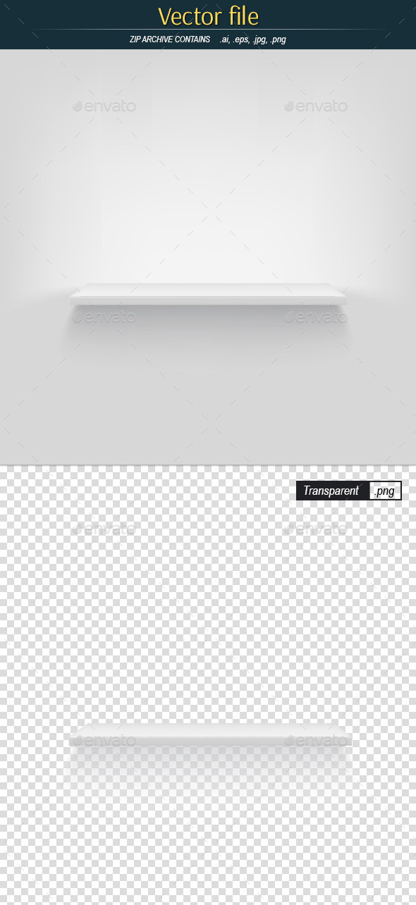 GraphicRiver Shelf on White Background Vector Object 11924597