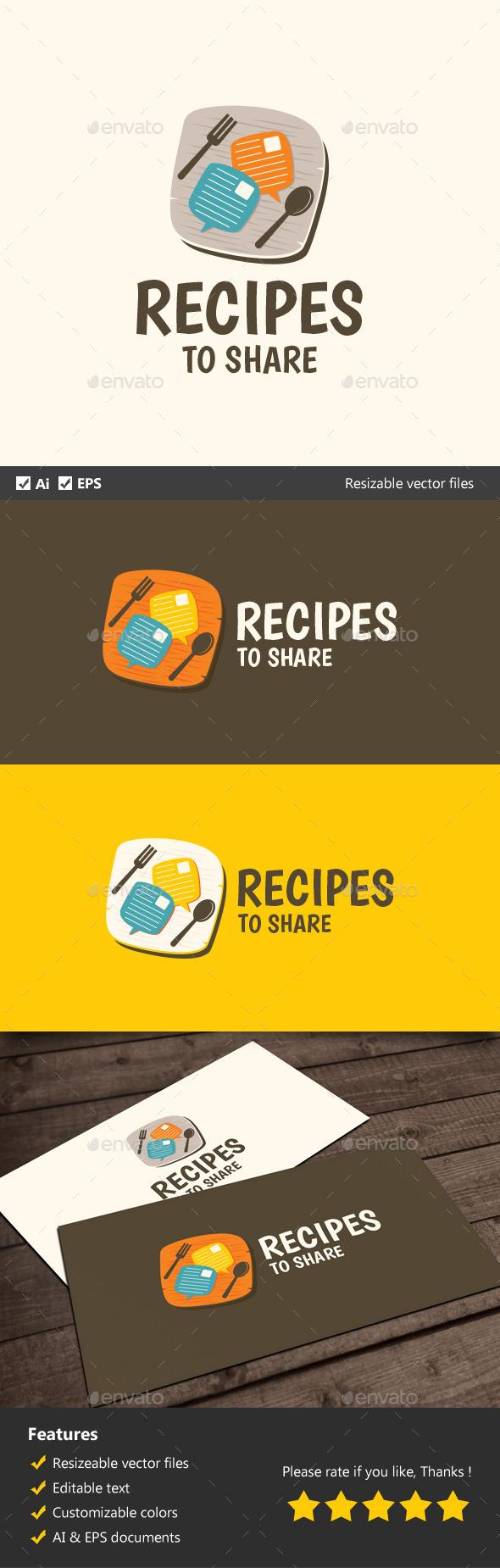 GraphicRiver Recipes to Share 11924604