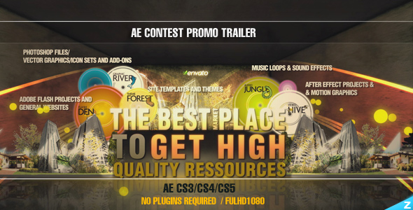After Effects Project - VideoHive AE CS3 Contest Promo Trailer Project 38321