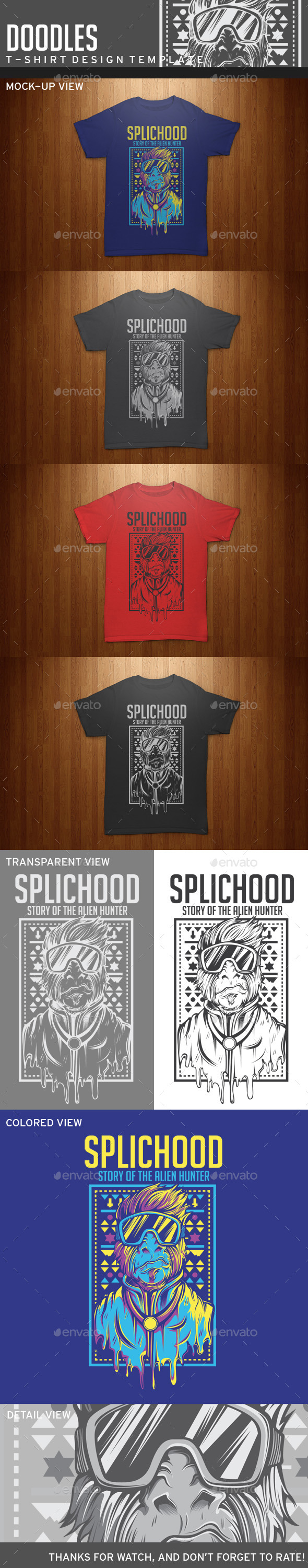GraphicRiver Splichood T-Shirt Template 11924799