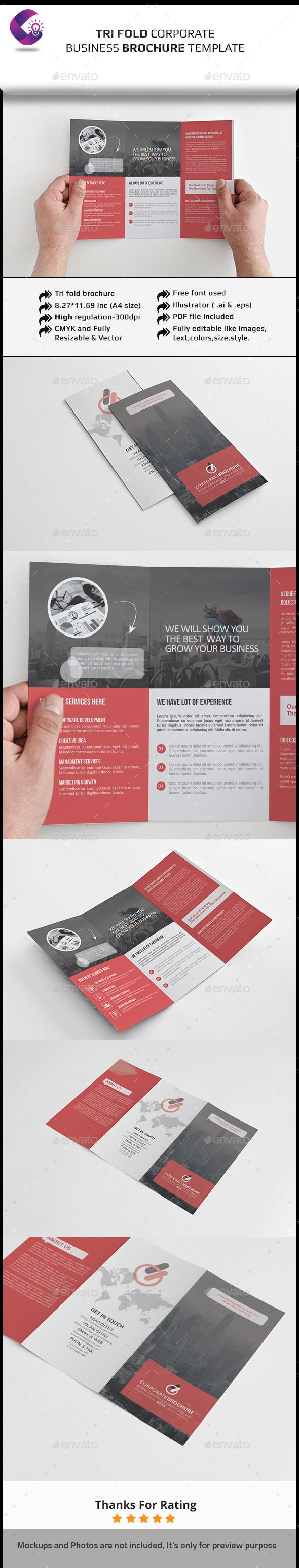 GraphicRiver Corporate Tri-fold Brochure-Multipurpose 11919131