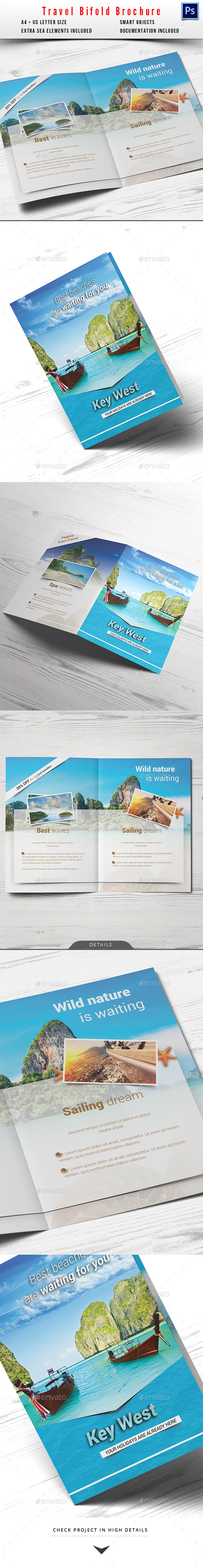 GraphicRiver Travel Holiday Bifold Brochure 11924943