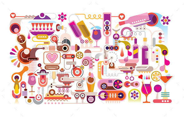 GraphicRiver Cocktail Machine Vector Illustration 11925348