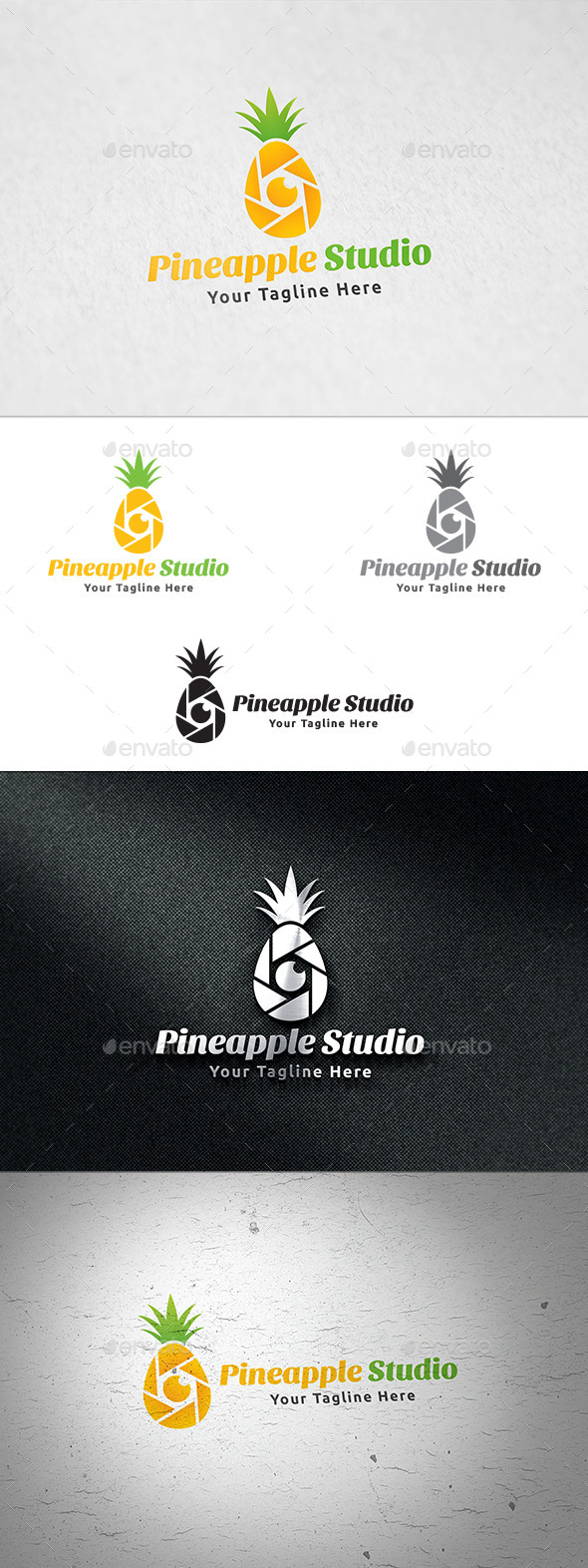 GraphicRiver Pineapple Studio Logo Template 11925467