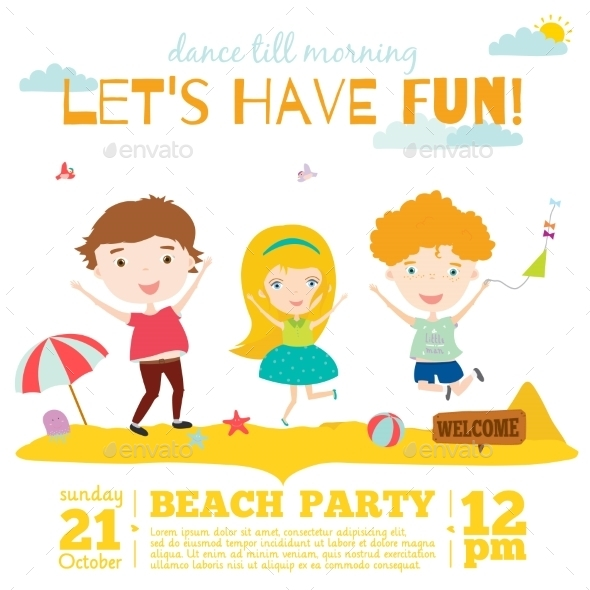 GraphicRiver Invitation Card On Summer Beach Party 11925541