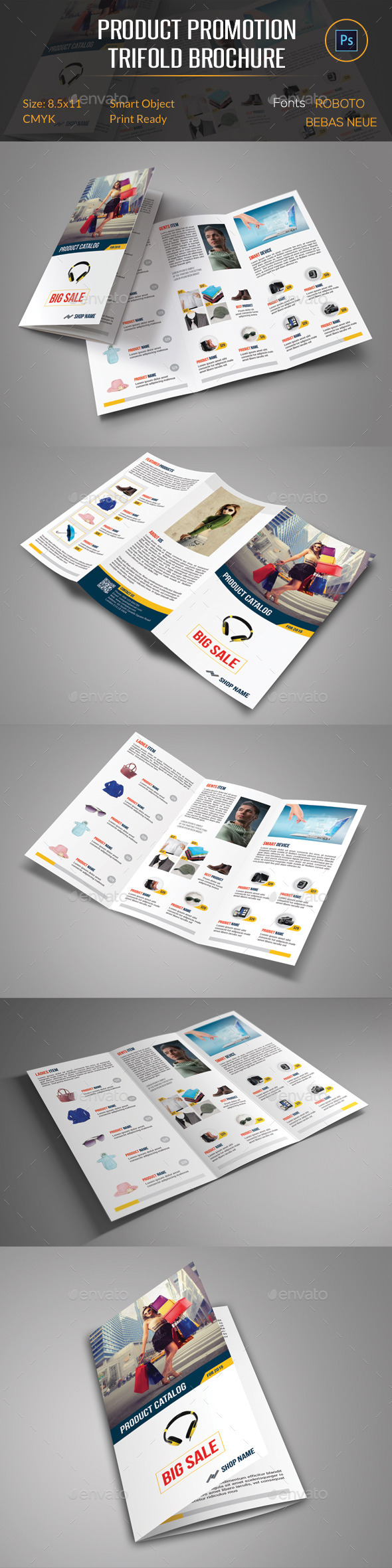 GraphicRiver Product Promotion Trifold Brochure 11925544