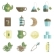 Tea Time Icons Set Flat - GraphicRiver Item for Sale