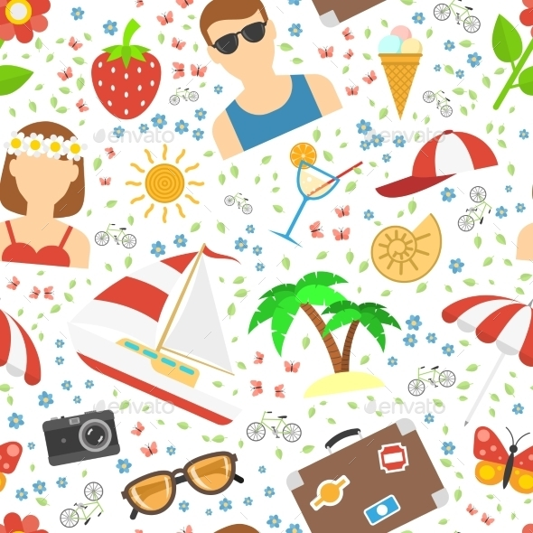 GraphicRiver Summer And Vacation Background 11925556