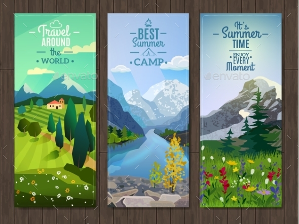 GraphicRiver Summer Landscape Vertical Banners Set 11925558