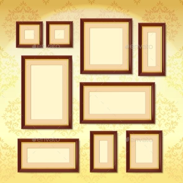 GraphicRiver Dark Wood Frames 11925561