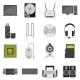 Computer Components And Accessories Icon Set - GraphicRiver Item for Sale