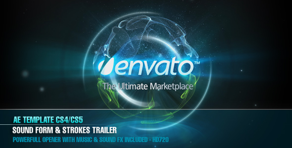 After Effects Project - VideoHive AE CS4 Sound Form & Strokes Trailer 12544 ...