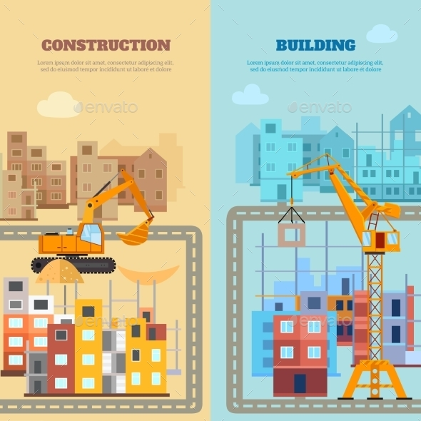 GraphicRiver Construction And Building Banner Set 11925737