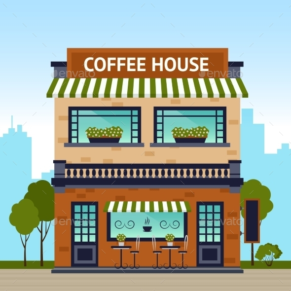 GraphicRiver Coffee House Building 11925738