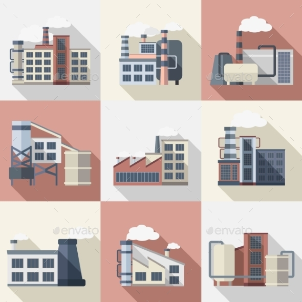 GraphicRiver Industrial Buildings Set 11925750