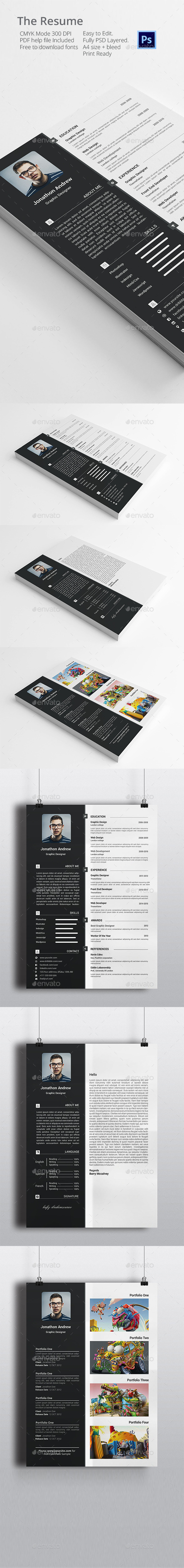 GraphicRiver The Resume cv 11925770
