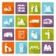 Warehouse Flat Icons Set - GraphicRiver Item for Sale