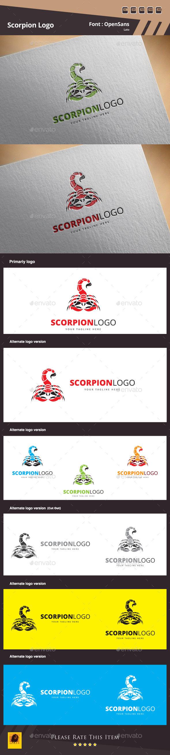 GraphicRiver Scorpion Logo Template 11925787