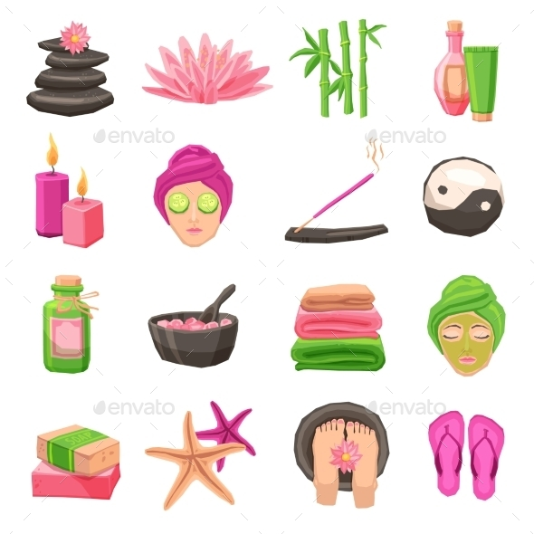 GraphicRiver Spa Icons Set 11925804