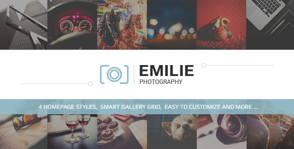 Emilie-Photography Portfolio HTML Template (Photography) Download