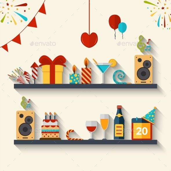 GraphicRiver Celebration Concept Flat 11925822