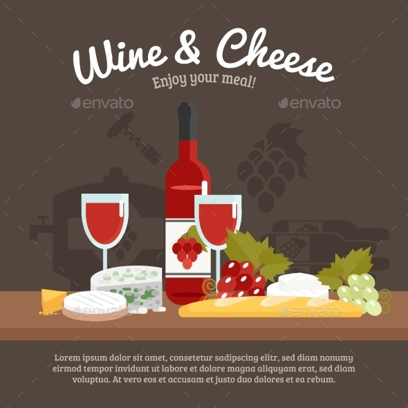 GraphicRiver Wine And Cheese Life Still 11925830