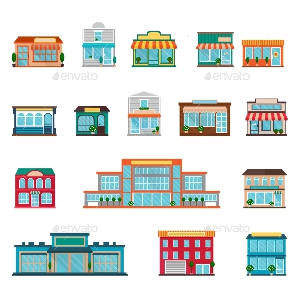 GraphicRiver Store Icons Set 11925843