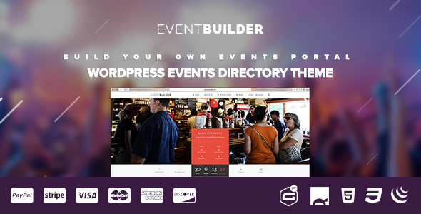 ThemeForest EventBuilder WordPress Events Directory Theme 11715889