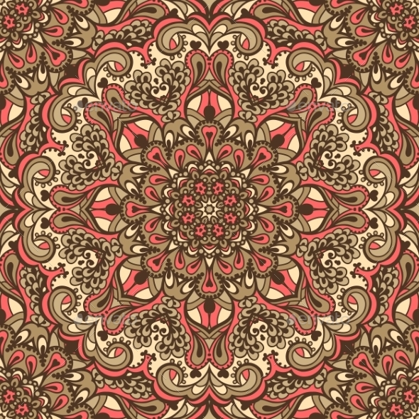 GraphicRiver Oriental Ornate Seamless Pattern 11925917