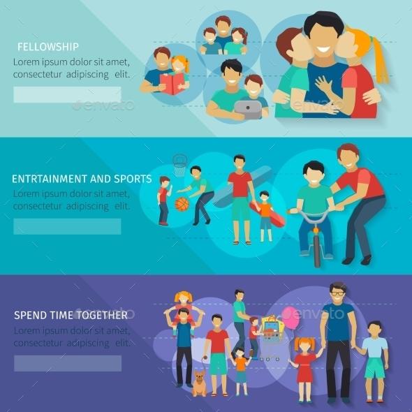 GraphicRiver Fatherhood Banner Set 11925964