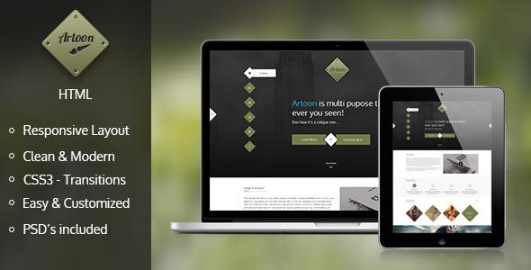 Artoon - One Page HTML Template - Experimental Creative