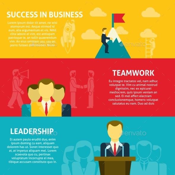 GraphicRiver Leadership Horizontal Banners Set 11926015