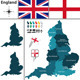 Map of England with Regions - GraphicRiver Item for Sale