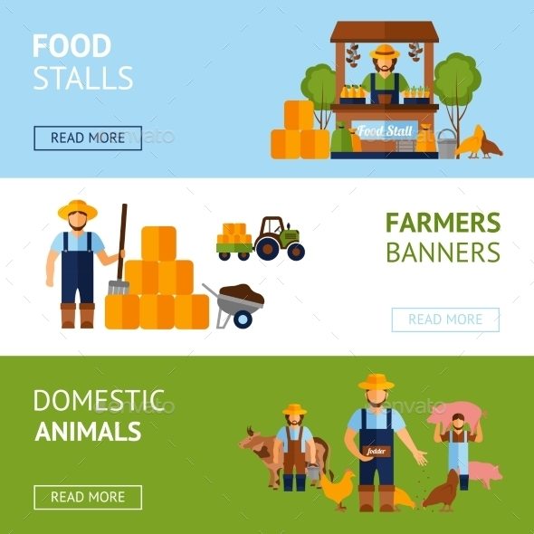 GraphicRiver Farmers Banner Set 11926022