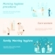 Morning Family And Woman Hygiene Banner - GraphicRiver Item for Sale