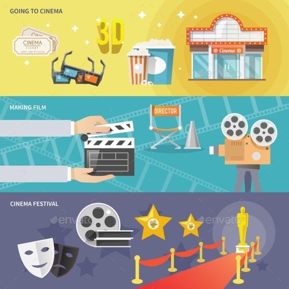 GraphicRiver Cinema Horizontal Banners Set 11926073