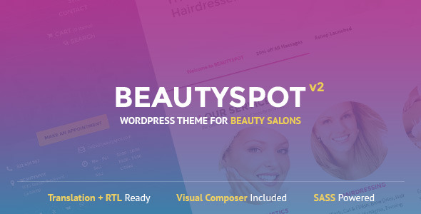 BeautySpot - WordPress Theme for Beauty Salons