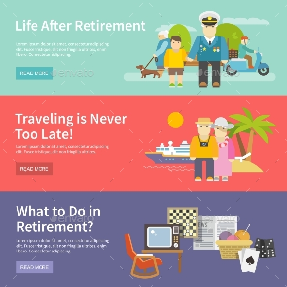 GraphicRiver Pensioners Life Banner Set 11926080