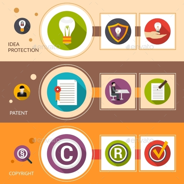 GraphicRiver Patent Idea Protection Banner Set 11926092