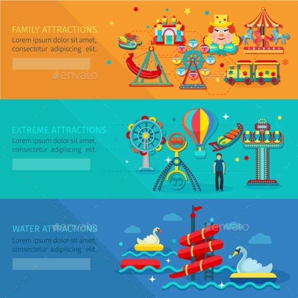 GraphicRiver Amusement Park Banner 11926100