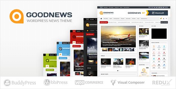 Goodnews – Responsive WordPress News/Magazine - News / Editorial Blog / Magazine