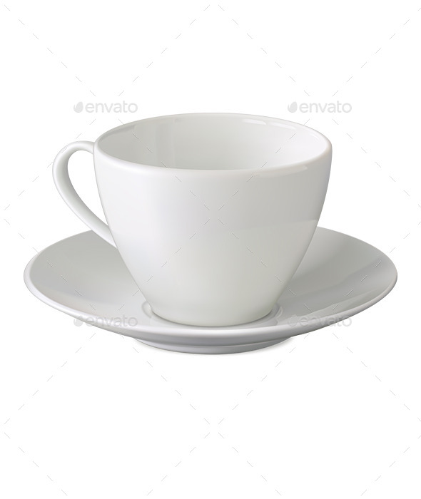 GraphicRiver Empty White Cup and Saucer 11926272
