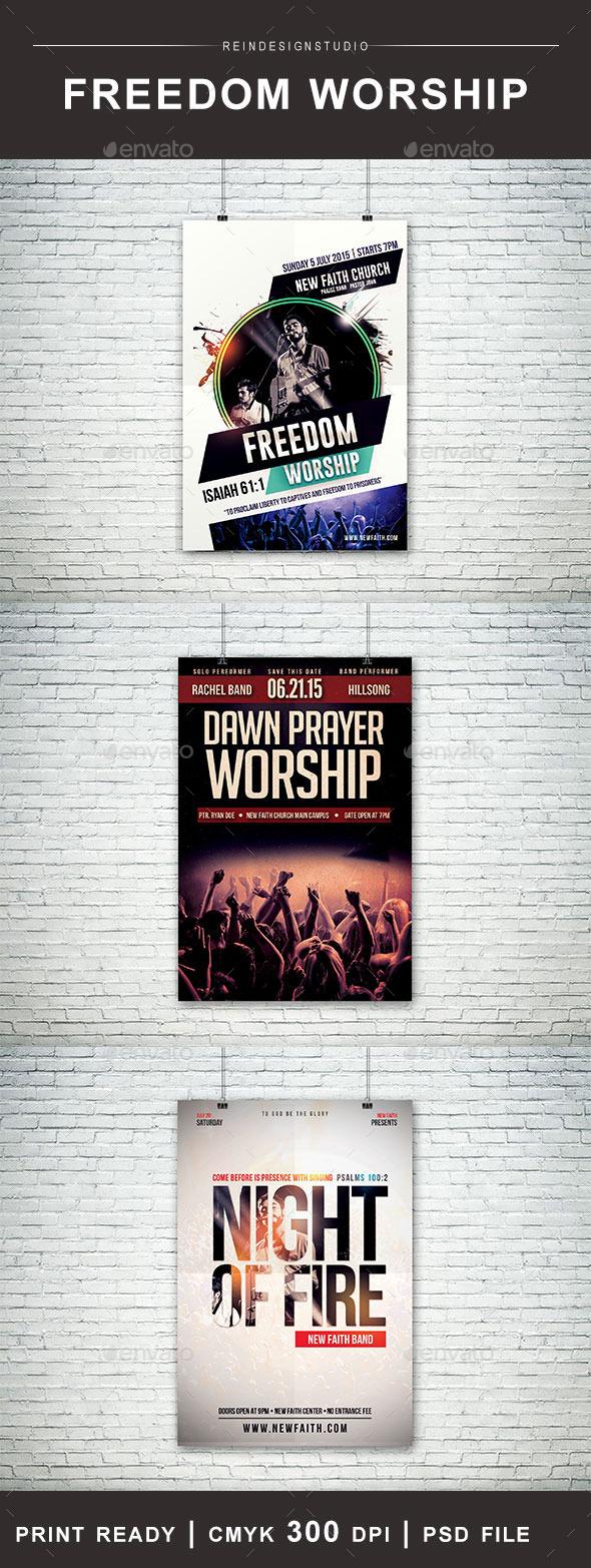 GraphicRiver Church Flyer Bundle 11926296