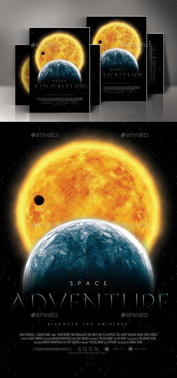 GraphicRiver Space Adventure Movie Poster 11926325