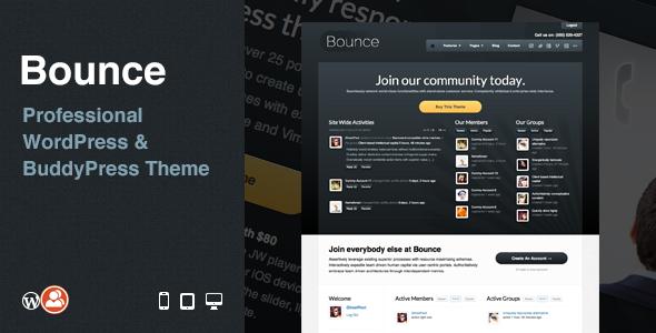 Bounce: Multi-Purpose Business WordPress/BuddyPress Theme