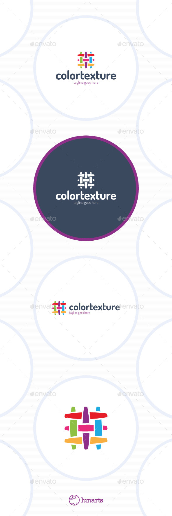 GraphicRiver Colorful Texture Logo Fabric Canvas Linien 11926363