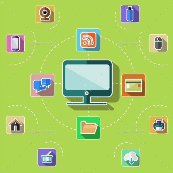 GraphicRiver Web Computer Mobile Icons 11926365