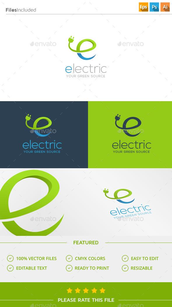 GraphicRiver Electricity Letter E Logo 11926587
